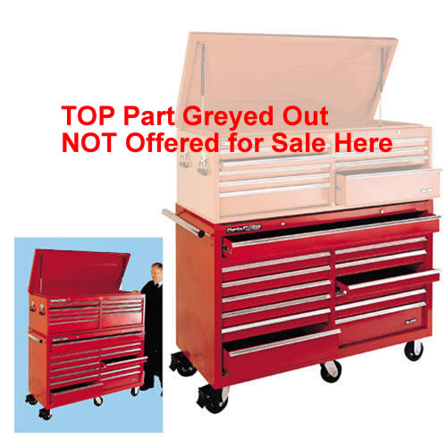 "CLARKE TOOL CHEST 56"" WHEELED 13 DRAWER RED ULTIMATE"
