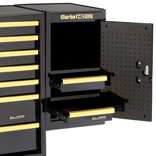 CLARKE TOOL BOX SIDE EXTENSION LOCKER BLACK AND GOLD